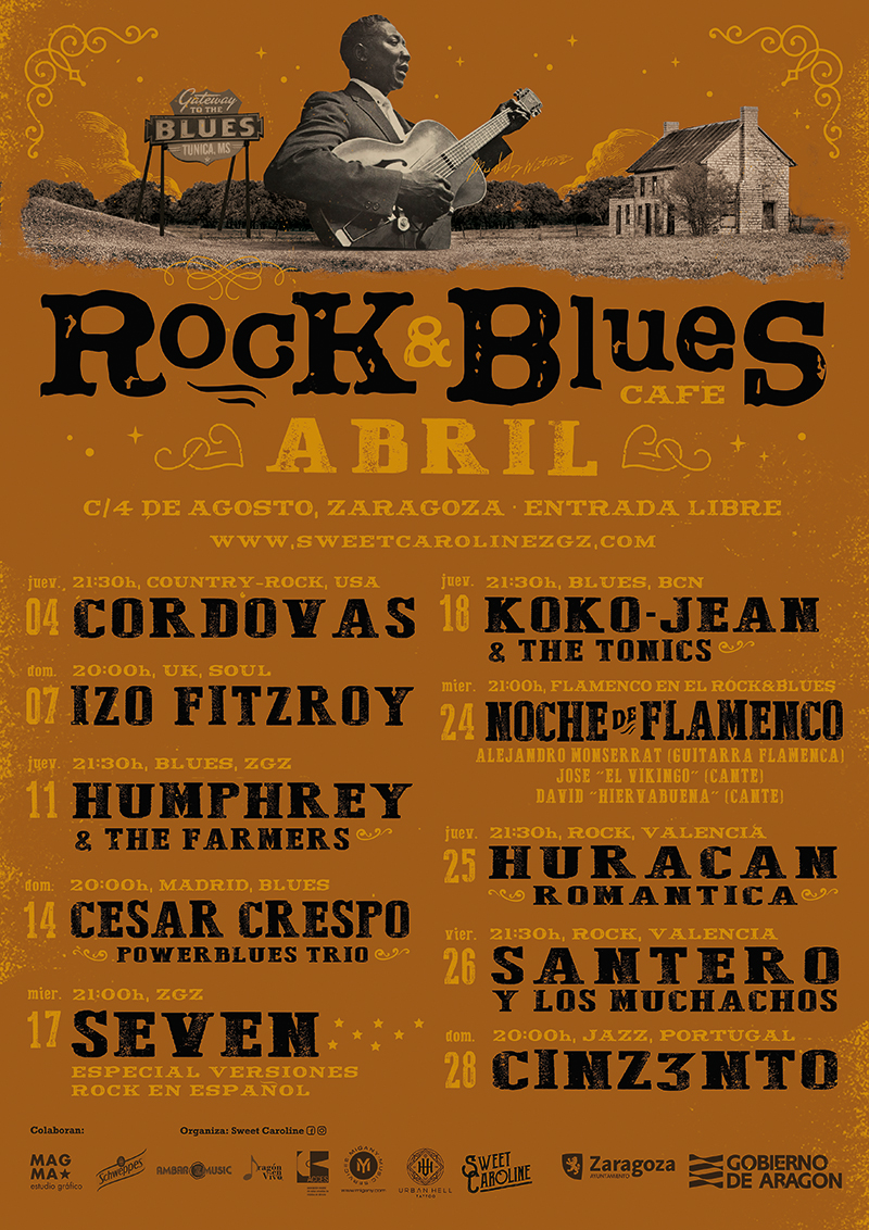 Abril Rock and Blues Café Zaragoza
